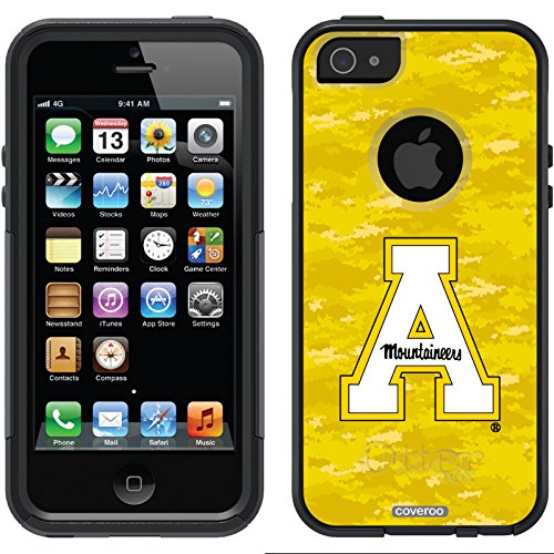 Appalachian State Color Camo Design On A Black Otterbox® Commuter Series® Case For Iphone 5S / 5