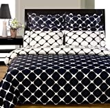 Navy and White Egyptian Cotton 9PC Bed in a Bag, Sheet, Duvet & Comforter, King