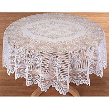 White Rose Lace Tablecloth - 72