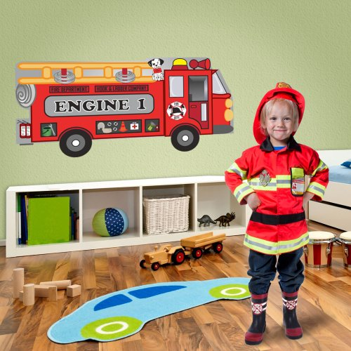 Mona Melisa Designs, Big Peel and Stick Decal, Fire Truck