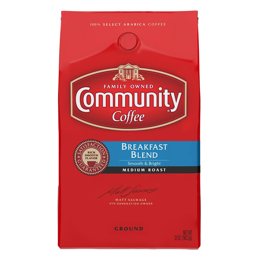 Community Coffee Ground Breakfast Blend, 32 Ounces