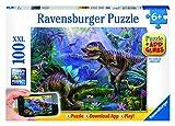 Ravensburger Spieleverlag 13664 - Reich des T-Rex - 100 Teile XXL, QR Code für die Gratis-App von Ravensburger Spieleverlag