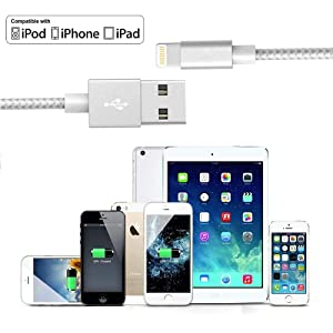 iphone charger cable Lightning Cable iPhone fast long charging cable cord 3 ft 6ft 10 ft pack Compatible with iPhone XS MAX XR X 8 7 6s 6 Plus ipad ip