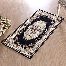 XH@G Carpet floor mats non-slip bath mat absorbent pad in the kitchen door mat , deep blue , 60*90cm