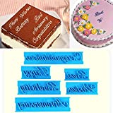 LussoLiv Happy Birthday Letters Cake Cutter Embosser Fondant Biscuit Cookie Baking Molds
