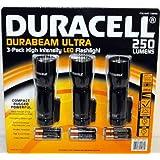 Duracell Durabeam Ultra 250 Lumens High-Intensity LED Flashlight, 3-Pack