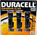 Duracell Durabeam Ultra 250 Lumens High-Intensity LED Flashlight, 3-Pack
