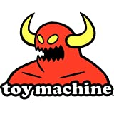 Toy Machine (Size W9.7 x H7.5 Centimeter) Car Motorcycle Bicycle Skateboard Laptop Luggage Vinyl Sticker Graffiti Decal Bumper Sticker (Color: white)