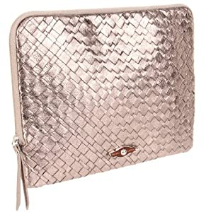 Elliott Lucca iPad 1,2 or 3 iPad Woven Leather Sleeve Case -Pyrite-