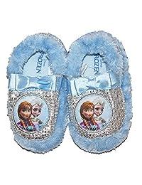 Disney Frozen Anna & Elsa Glitter Slippers Toddler Girl X Large 11/12