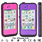 New Waterproof Shockproof Dirtproof Snowproof Protection Case Cover for Apple Iphone 4 4S (Pink)