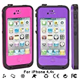 New Waterproof Shockproof Dirtproof Snowproof Protection Case Cover for Apple Iphone 4 4S (Pink) thumbnail