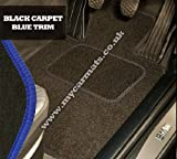 Citroen C4 (2010 onwards) Black Car Mats + Blue Trim