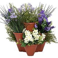Pure Garden Stackable Planters (Set of 3)