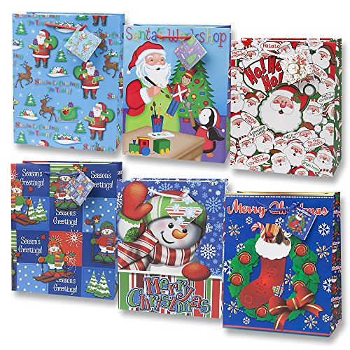 Medium Assorted Christmas Gift Bags (12) - 1