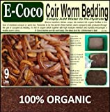 WORM BEDDING FOR VERMICULTURE (9 LITRES) COMPOST FOR WORMS, SOIL FOR WORMERY - COMPRESSED BRIQUETTE