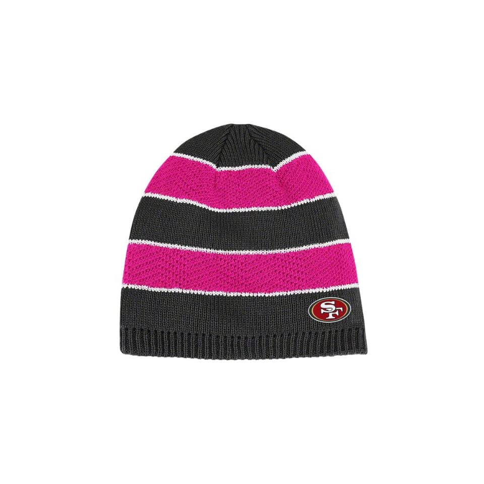 93c8293afd9 ... usa reebok san francisco 49ers womens breast cancer awareness knit hat  one size fits all 7fa9e
