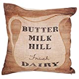 "Yogo-Case Home Decor Cotton Linen Square Pillowcase Dairy Milk Butter Hill Throw Pillow Sham Cushion Cover 18"" x 18"""