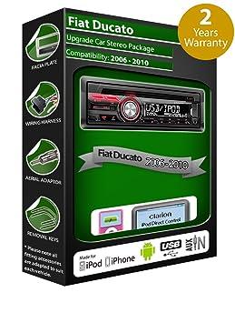 Fiat Ducato de lecteur CD et stéréo de voiture radio Clarion jeu USB pour iPod/iPhone/Android
