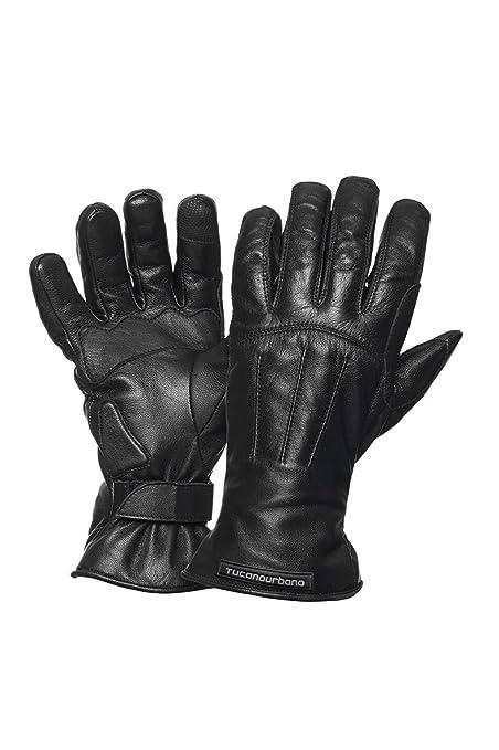 Tucano urbano 9926MN5 sOFTY tOUCH-winter respirant et imperméable leather gants pour ecran tactile taille l noir