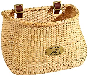 Nantucket Bike Basket CompanyLightship Collection Classic/Tapered Natural Bicycle Basket (Tan, 12 X 7.5 X 9)