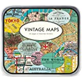 Cavallini Decorative Stickers Vintage Maps, Assorted