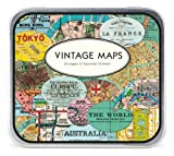 Cavallini Decorative Stickers Vintage Maps, Assorted