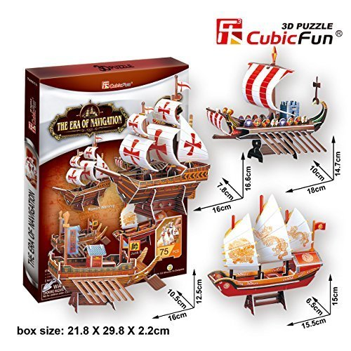 "CubicFun 3D Puzzle Ship-Series ""The Era of Navigation"" - 1"