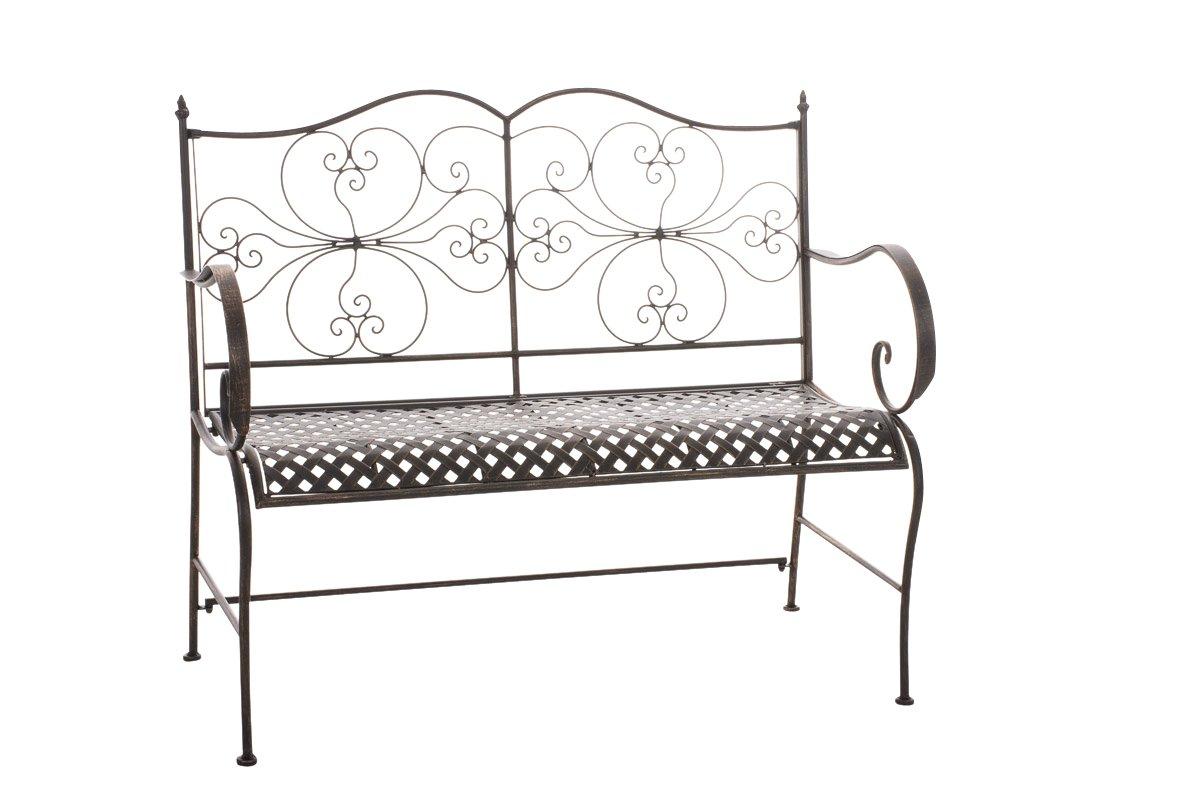 CLP Gartenbank ANNO im Landhausstil, aus lackiertem Eisen, 106 x 51 cm – aus bis zu 6 Farben wählen bronze günstig bestellen