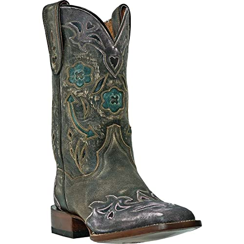 Dan Post Womens Floral And Arrow Inlay Wingtip Cowgirl Boot Square Toe