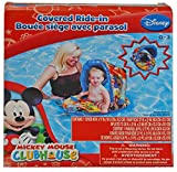 Disney Mickey Mouse Pool Float Seat with Covered Canopy - Baby Toddler Ride-in Swim Ring