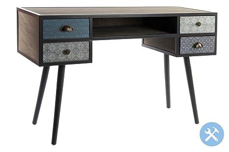Bureau en bois et métal. Style Rétro. Taille 120x 43x 75cm