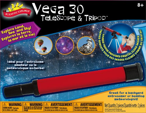 Poof-Slinky - Scientific Explorer Vega 30 Telescope With 30X Magnification And Metal Tabletop Tripod, 0Sa401Bl