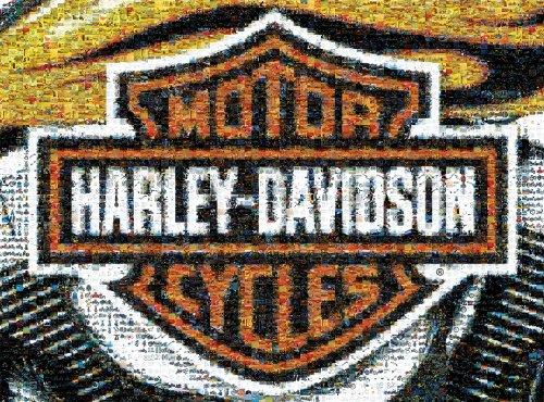 Photomosaic Harley Davidson  1000 piece Puzzle