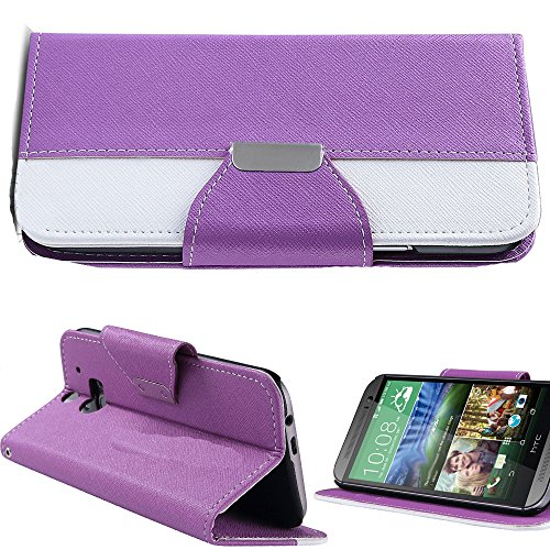 Mylife (Tm) Violet Purple Rain {Hipster Design} Faux Leather (Card, Cash And Id Holder + Magnetic Closing) Slim Wallet For The All-New Htc One M8 Android Smartphone - Aka, 2Nd Gen Htc One (External Textured Synthetic Leather With Magnetic Clip + Internal