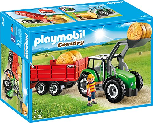 PLAYMOBIL-6130-Groer-Traktor-mit-Anhnger