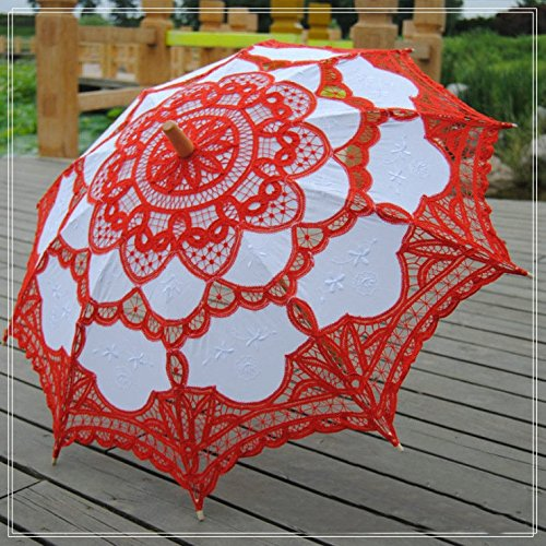 Vintage Style Parasols and Umbrellas Lace Embroidered  Parasol $23.99 AT vintagedancer.com