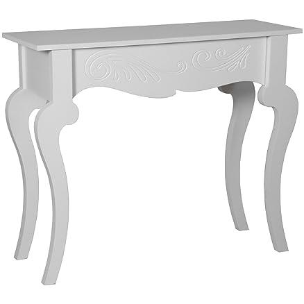 suskaregalos-mesa ingresso legno bianco 110x 30x 82cm _ 110x 30x 82cm