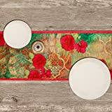 Blossom Roses-Poly Velvet-13x72inch-Premium-Table Runner
