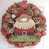 Country Santa Merry Christmas Wreath