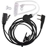 AOER 2 pin Nipple Covert Acoustic Tube Earpiece Headset with PTT VOX Mic for Kenwood Nexedge Puxing Wouxun Radio
