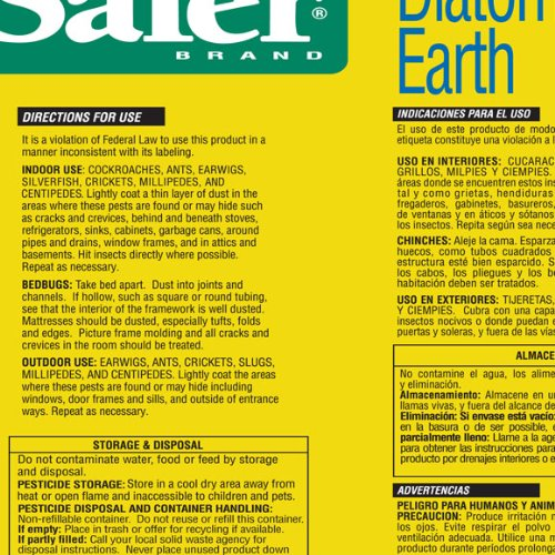 Safer Brand 51702 Diatomaceous Earth Bed Bug Ant And