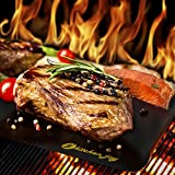 #1 TOP RATED BBQ Grill Mat - SET OF 3 - A Miracle Barbecue solution for Gas, Charcoal or Electric Grill - Perfect for Grilling Ribs, Shrimps, Steaks, Burgers and Vegetables - No Need to Use Barbecue Accessories like Grill Brush ever again - FREE Cooking eBook - Plus a 10 Years No Questions Asked Money-Back Guarantee!