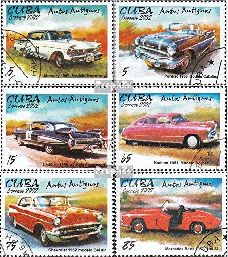Kuba 4461I-4466I (kompl.Ausg.) gestempelt 2002 Alte Automobile (Briefmarken für Sammler)