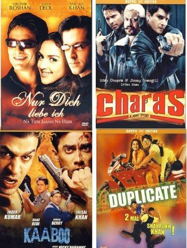 Quattro Bollywood Set 2: Duplicate - Nur dich liebe ich - Charas - Kaaboo [4 DVDs]