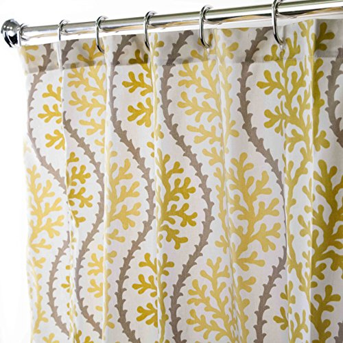 Nautical Extra Long Shower Curtains Unique Fabric Yellow Beach D Cor Coral 96 Inches Curtain Store