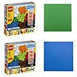 "Lego Bricks & More Builders Of Tomorrow Set 6177 [2 Pack] & Green Building Plate (10"" X 10"") & Blue Building Plate..."