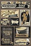 Karen Foster Design Acid and Lignin Free Scrapbooking Sticker Sheet, Marching Band