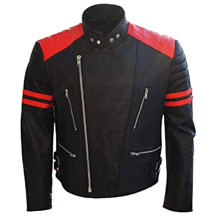 Moto Veste en cuir retro old school (M)