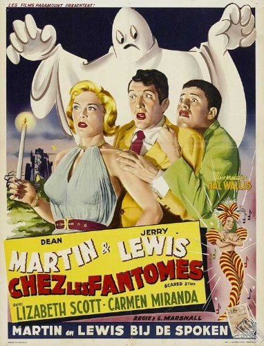 movie poster - Dean Martin and Jerry Lewis in Scared Stiff